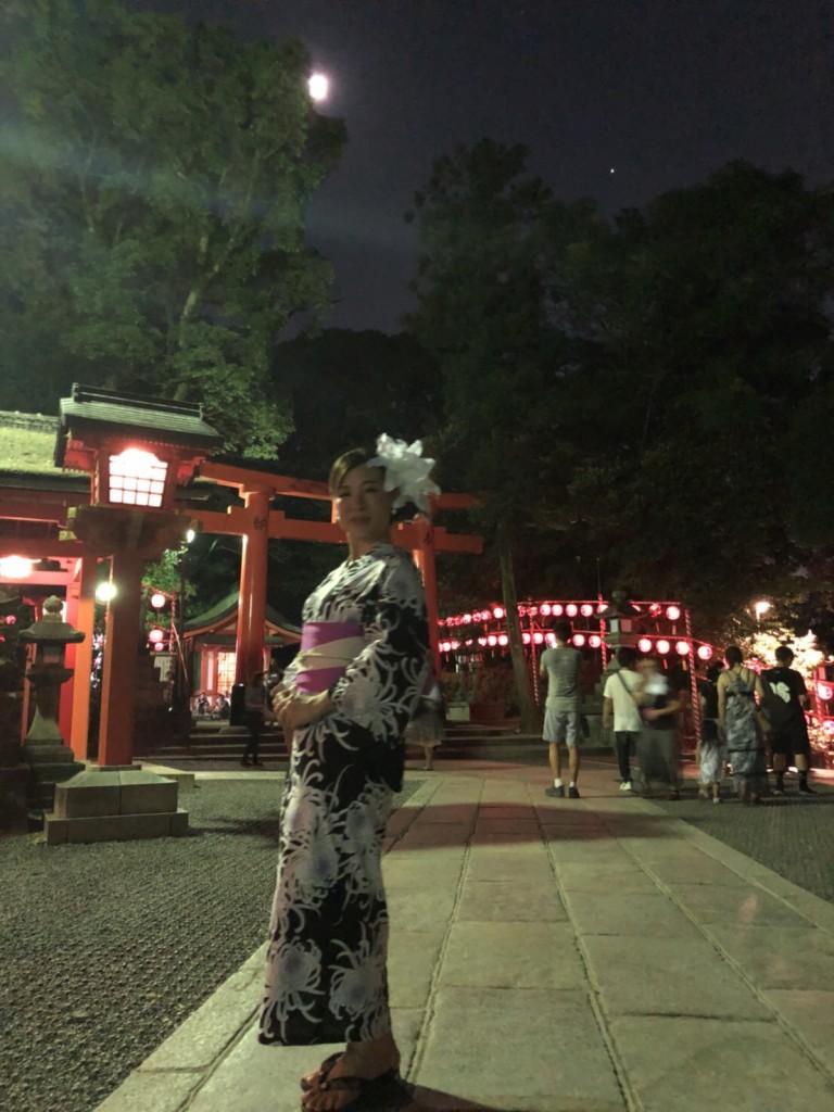 暑さに負けず、浴衣で京都観光(^^♪2018年7月22日20