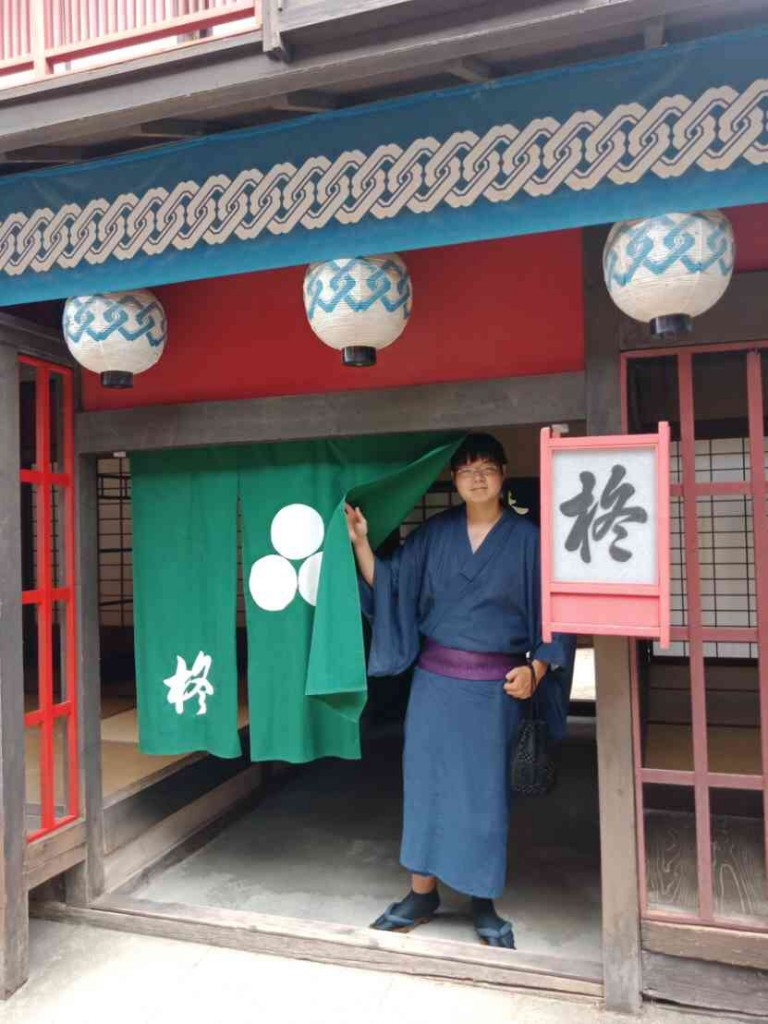 浴衣で東映太秦映画村へ(^^♪2018年7月27日3