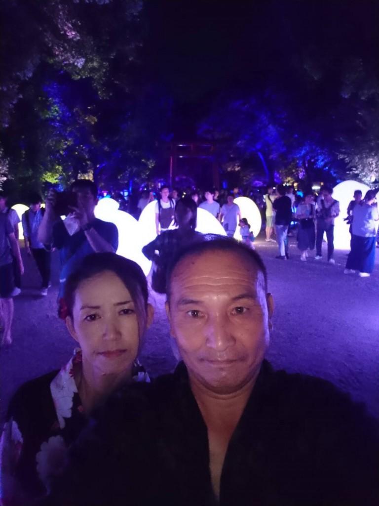 下鴨神社 糺の森の光の祭 長蛇の列2018年8月25日14