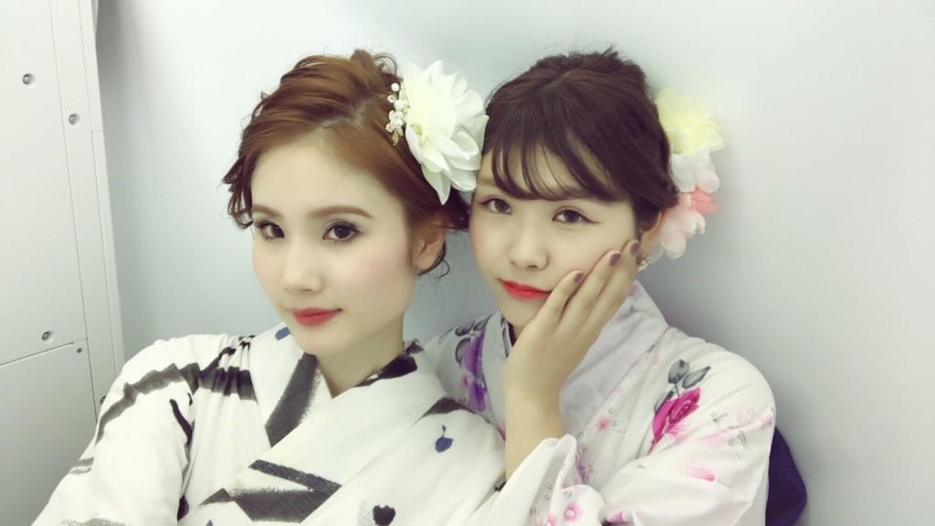 仲良し姉妹♡京都で浴衣レンタル(^^♪2018年8月6日1