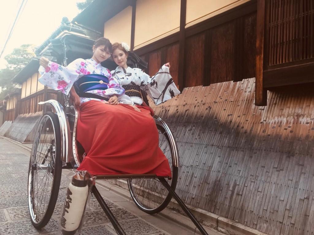 仲良し姉妹♡京都で浴衣レンタル(^^♪2018年8月6日3