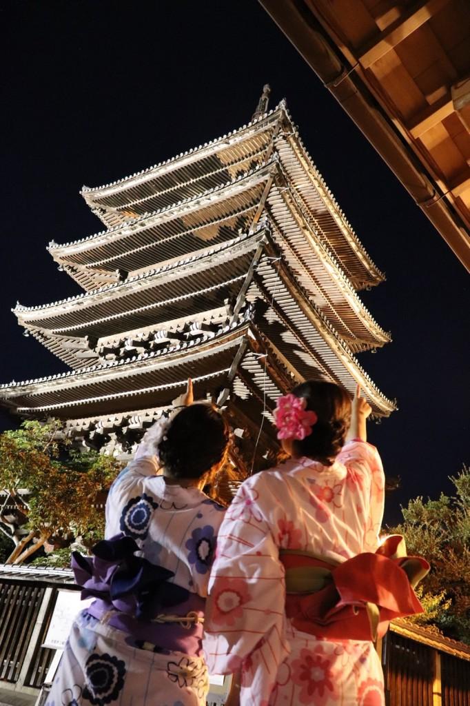 お盆休みで全国から京都へ2018年8月12日12