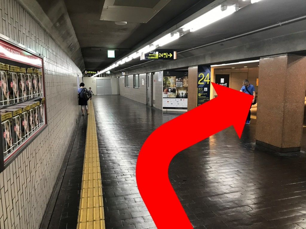 烏丸駅から(新店舗)(2)