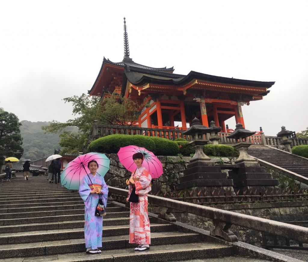 傘さして雨の京都を!2018年9月20日2