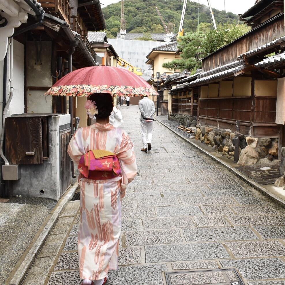 カップルで雨の京都を♪2018年9月14日1