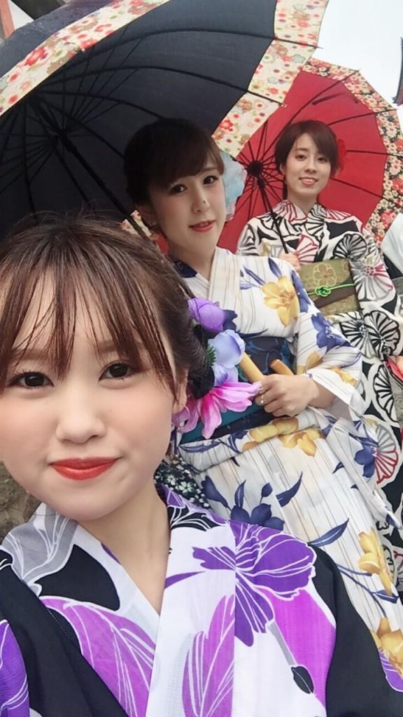 傘さして雨の京都を!2018年9月20日1