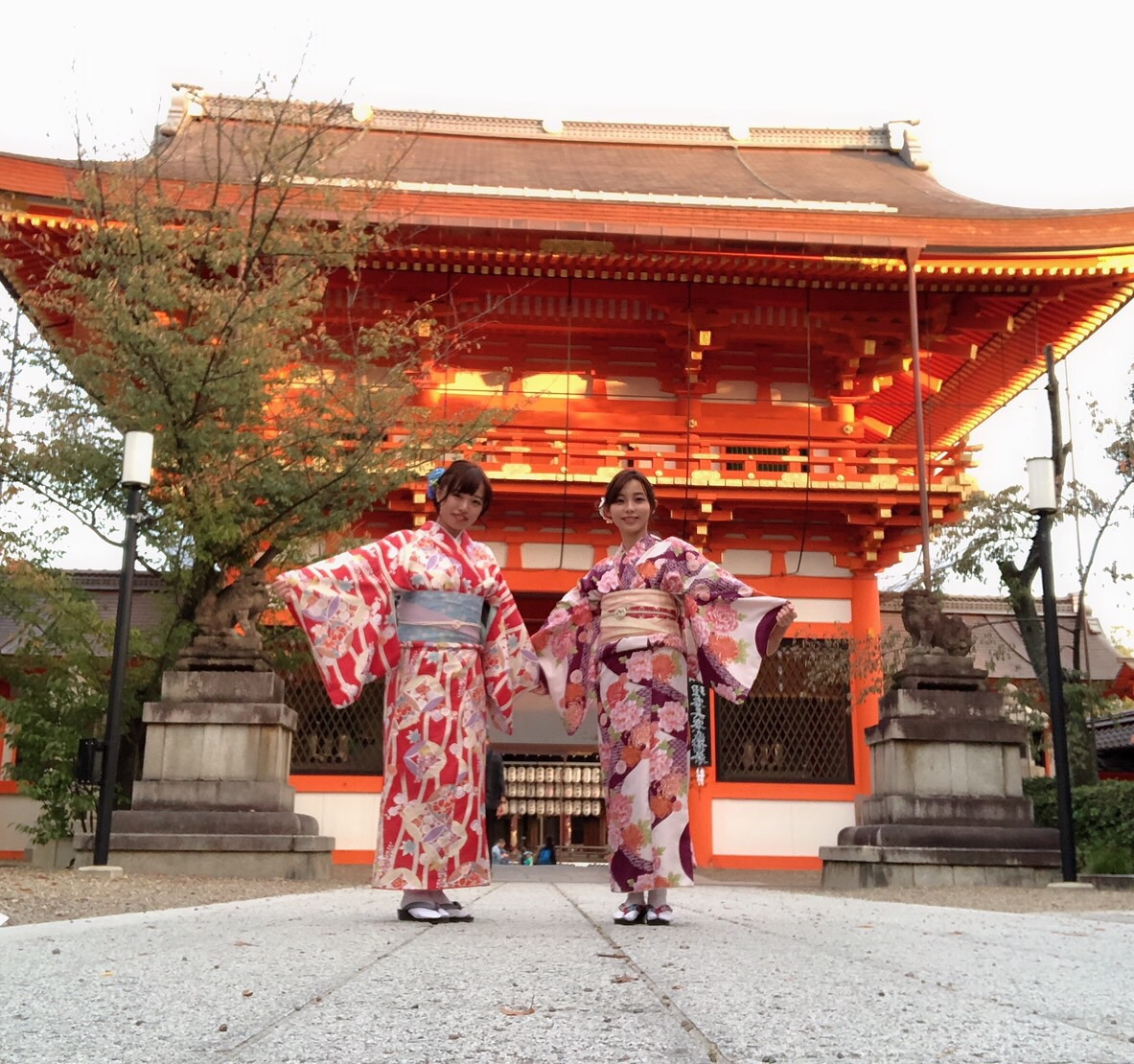 金閣寺も紅葉少し色付いて来ました♪2018年11月7日6