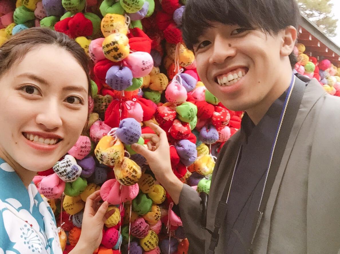 カップルで八坂庚申堂へ♡2018年12月4日1