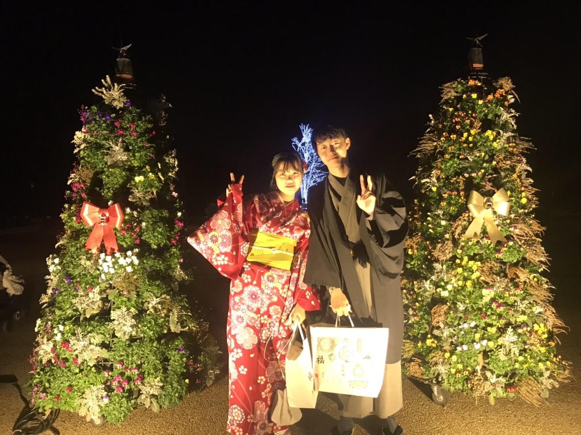 クリスマスはカップルで着物レンタル♡2018年12月25日20