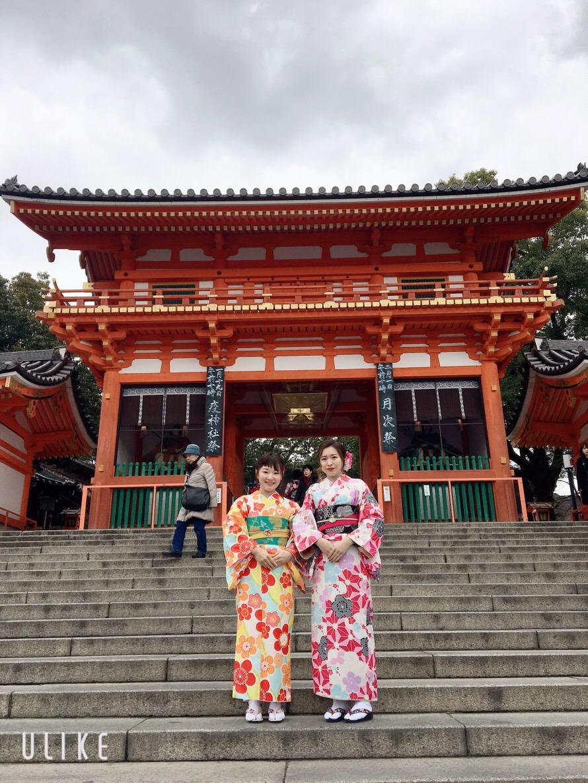 八坂神社で記念撮影♪2019年1月18日2