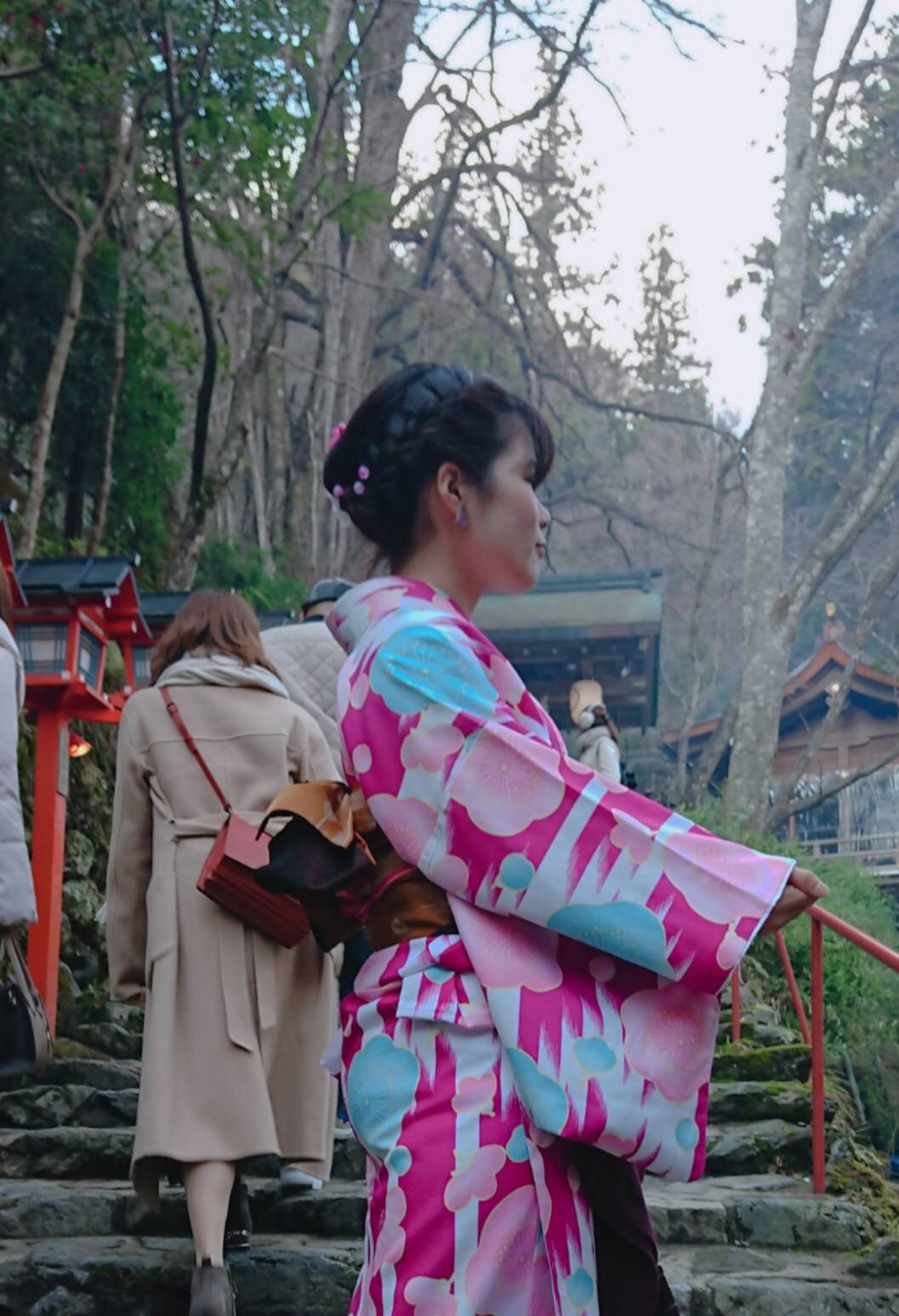 家族で下鴨神社の蹴鞠初めへ2019年1月4日7