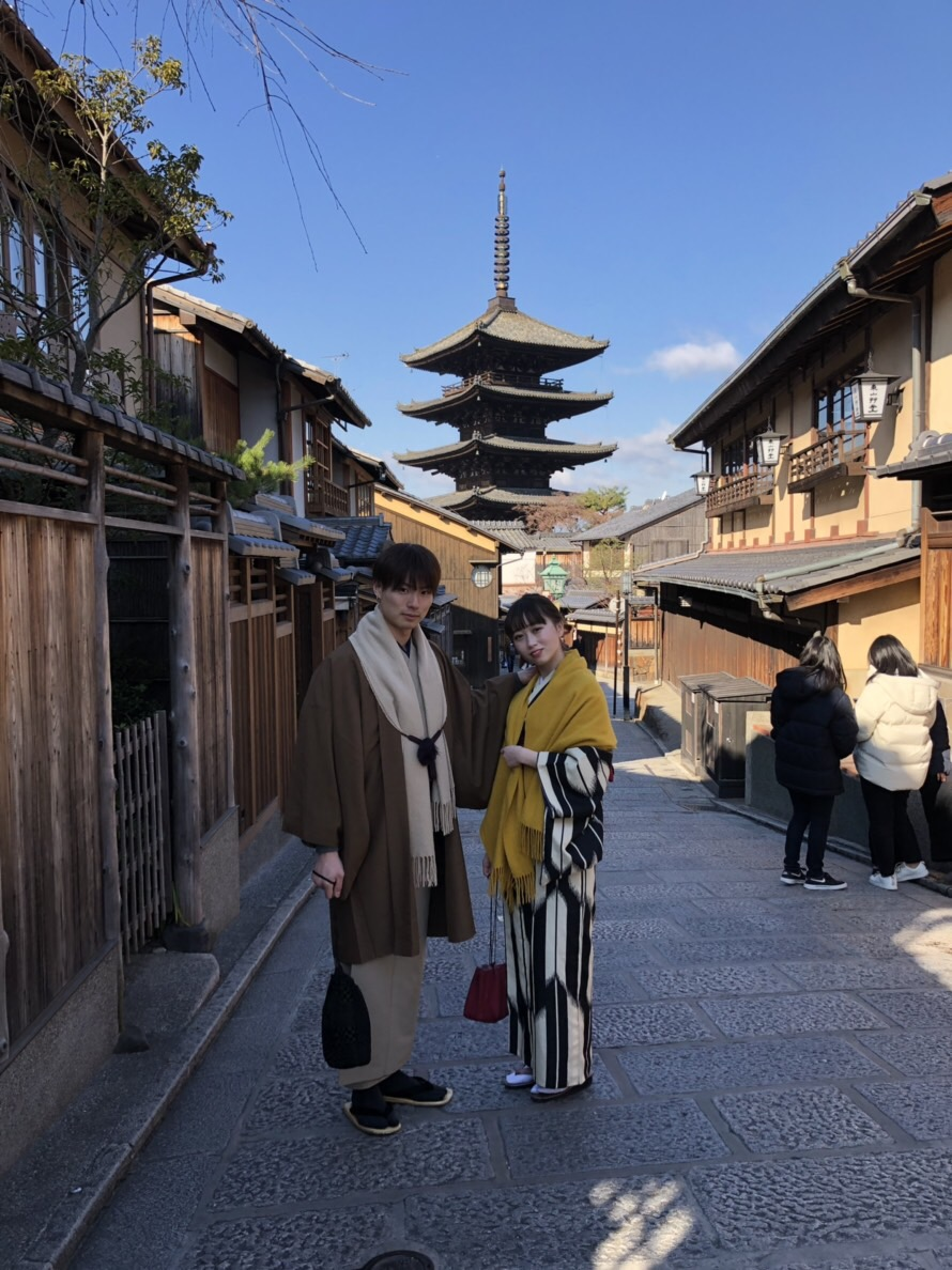 家族で北海道から京都旅行(^^♪2019年1月14日1
