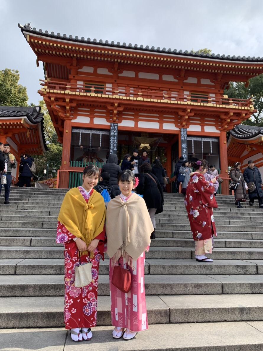 八坂神社へ初詣2018年1月6日1