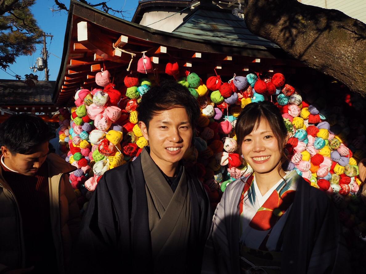 家族で下鴨神社の蹴鞠初めへ2019年1月4日10