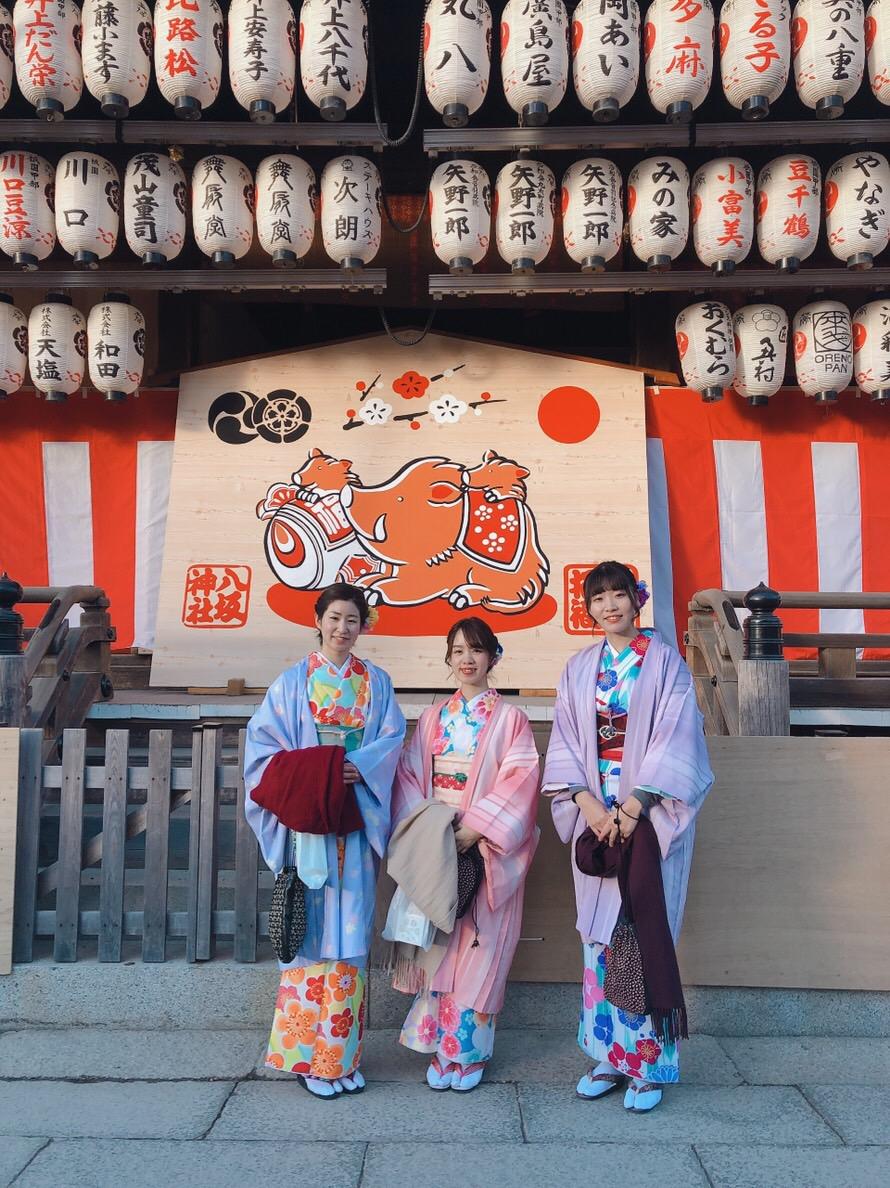 家族で下鴨神社の蹴鞠初めへ2019年1月4日4