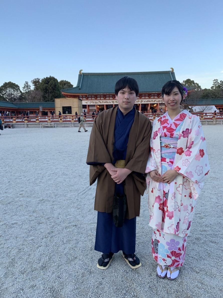 家族で下鴨神社の蹴鞠初めへ2019年1月4日9