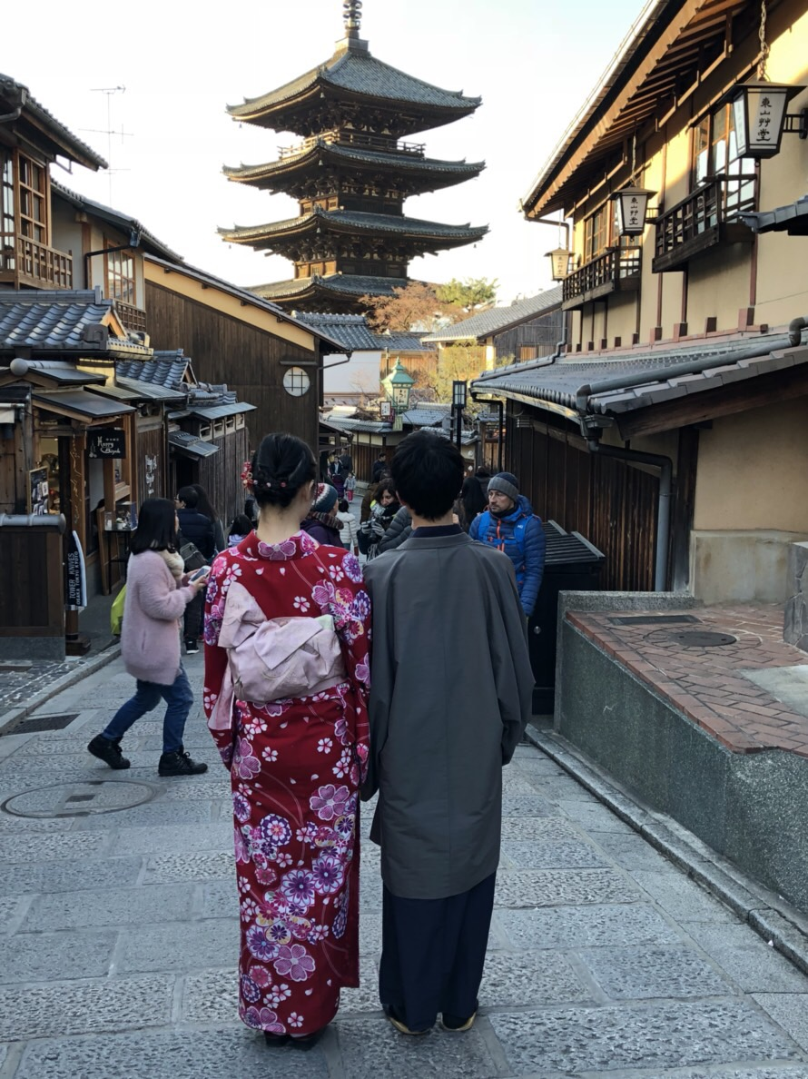 家族で下鴨神社の蹴鞠初めへ2019年1月4日5