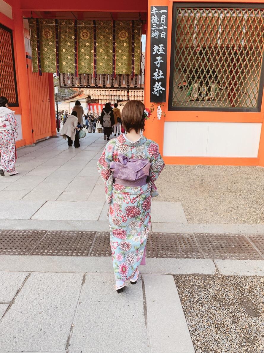 もう少しで終わりの冬休みを京都で着物レンタル2019年1月5日4