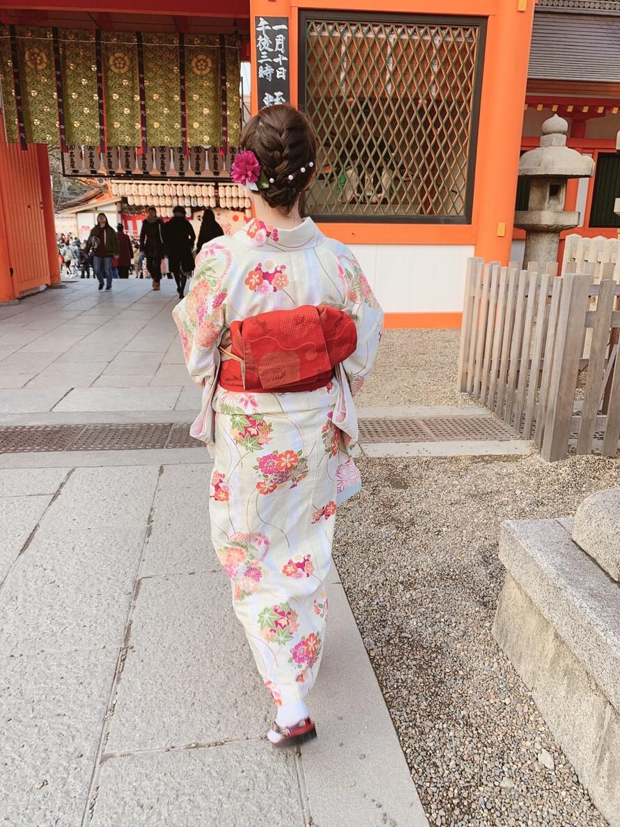 もう少しで終わりの冬休みを京都で着物レンタル2019年1月5日5