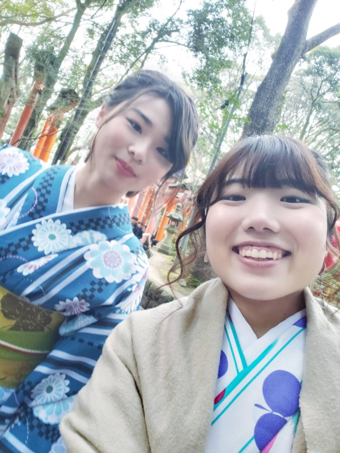 今日は嵐山と伏見稲荷大社が人気でした♡2019年2月7日9