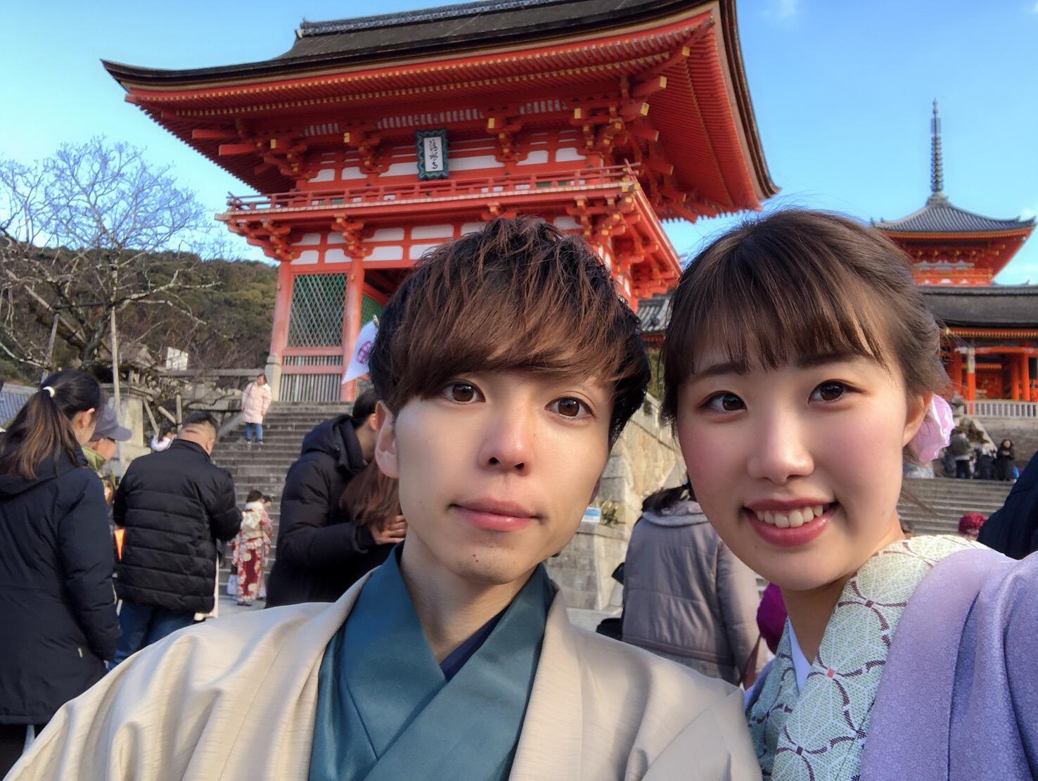 カップルで錦市場を食べ歩き♡2019年2月1日1