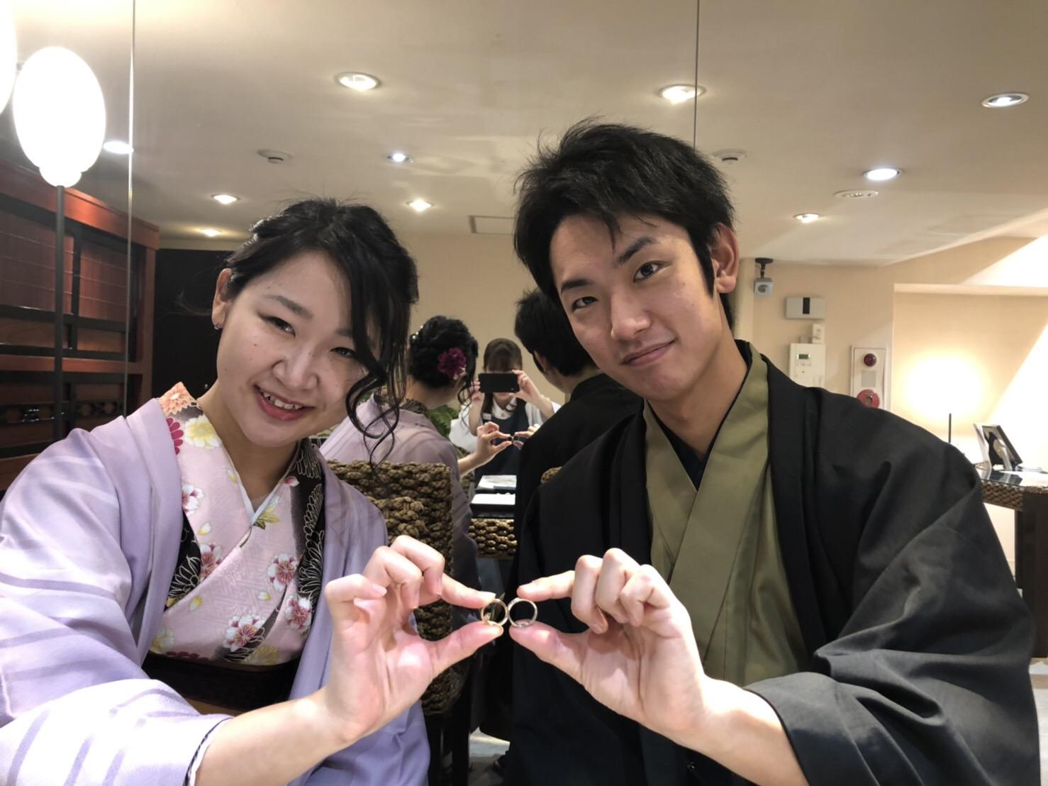 着物で結婚指輪づくり♡2019年2月2日1