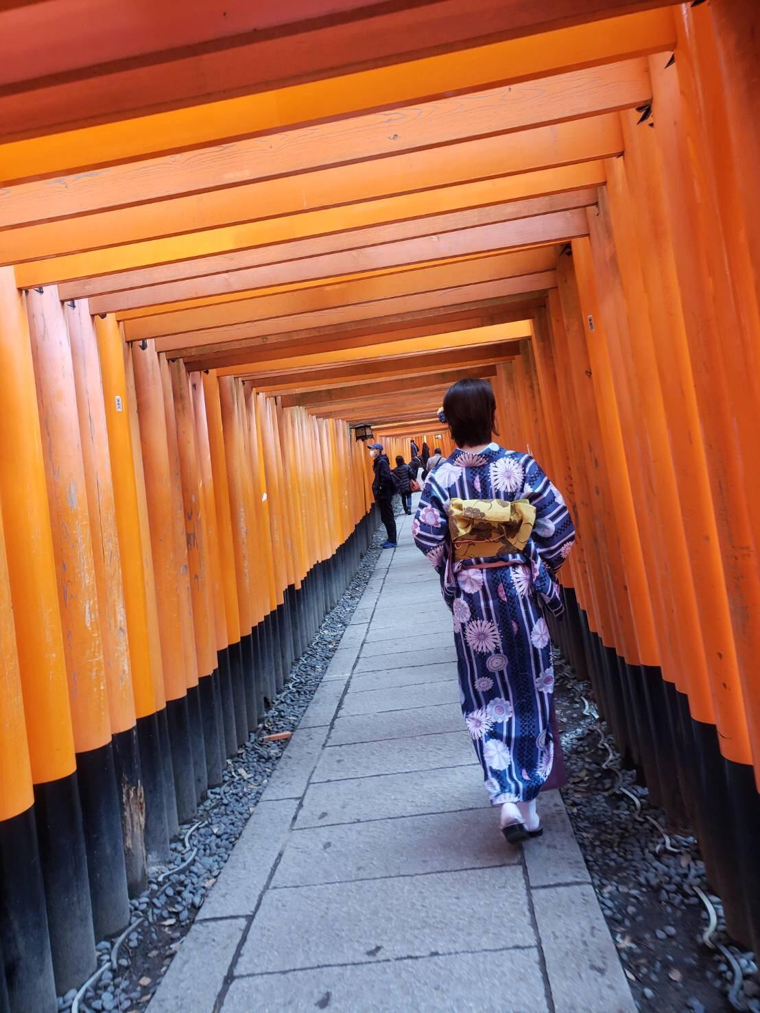 今日は嵐山と伏見稲荷大社が人気でした♡2019年2月7日5
