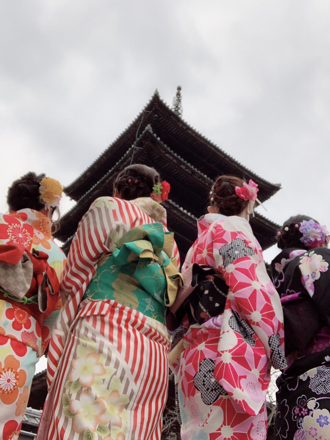 皆で京都へ卒業旅行(^^♪2019年2月21日2