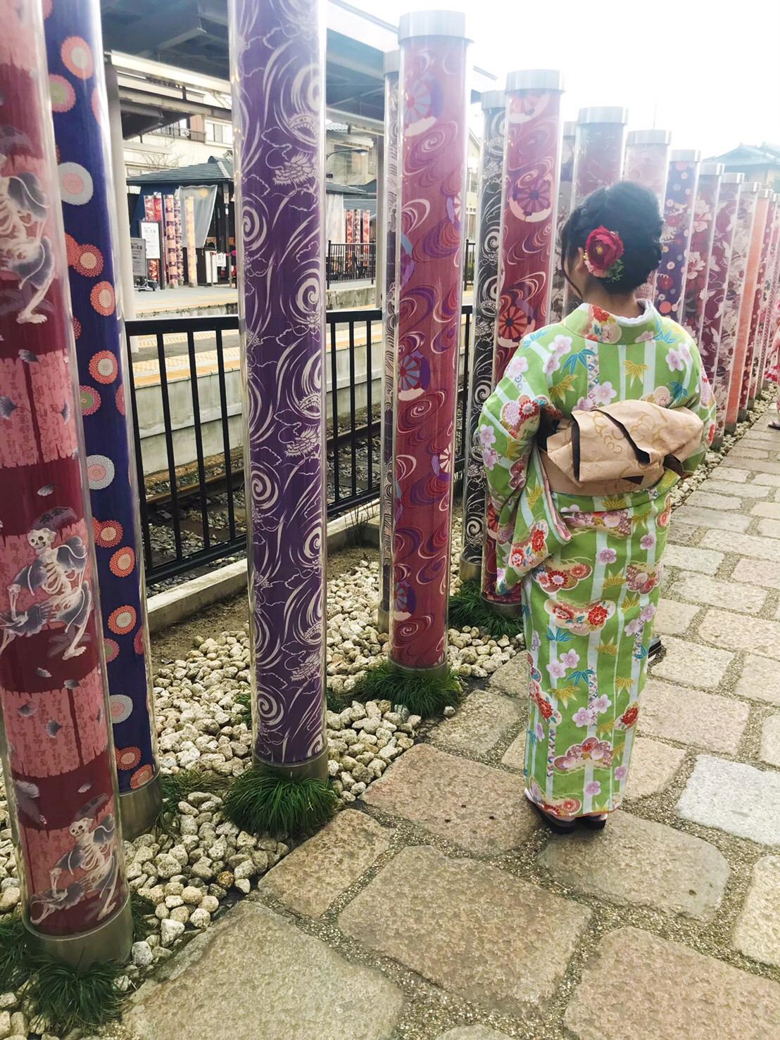 今日は嵐山と伏見稲荷大社が人気でした♡2019年2月7日15