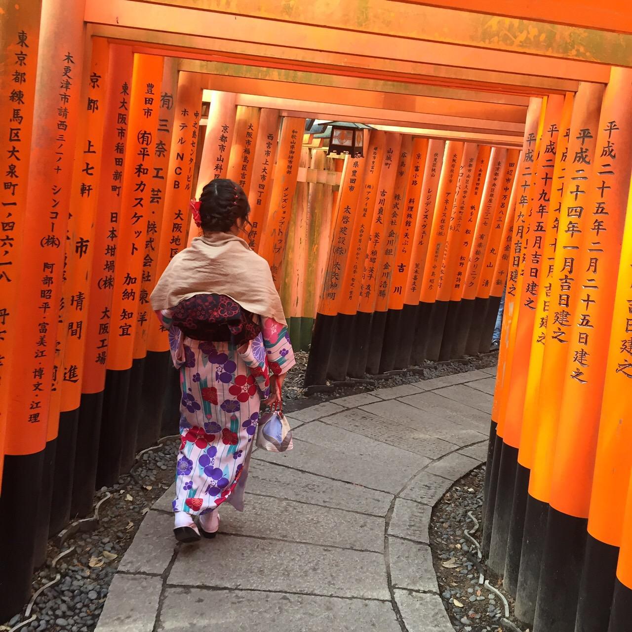 今日は嵐山と伏見稲荷大社が人気でした♡2019年2月7日4