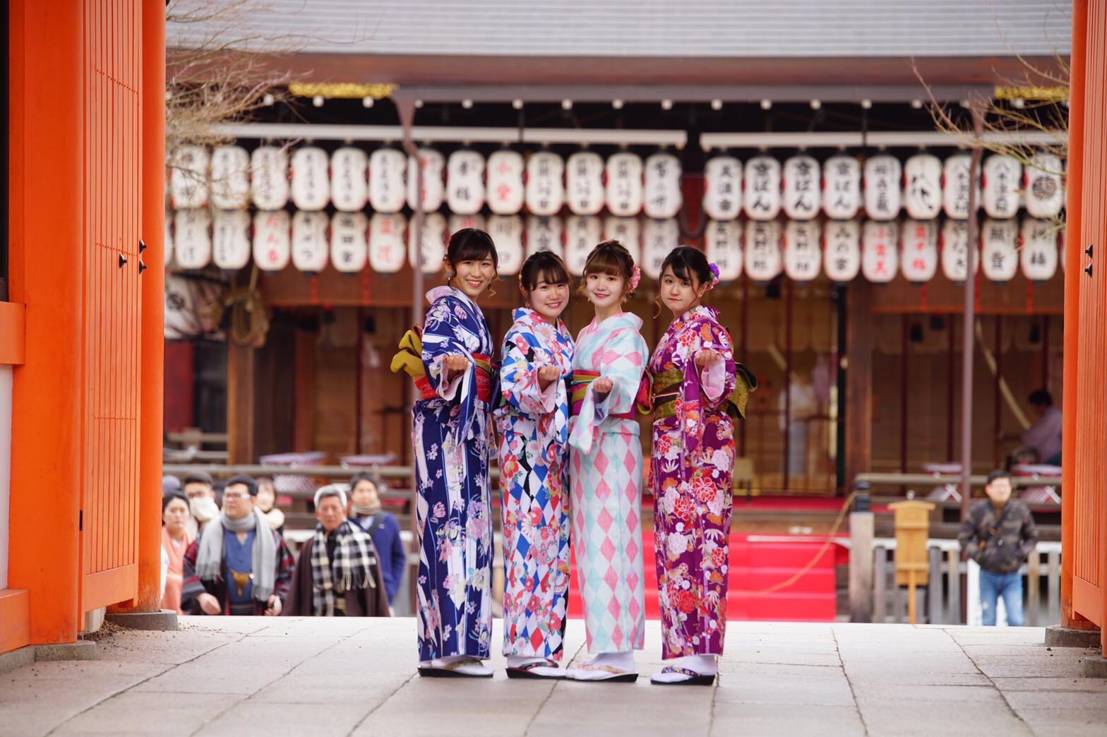 着物レンタルで高台寺を散策(^^♪2019年2月9日1