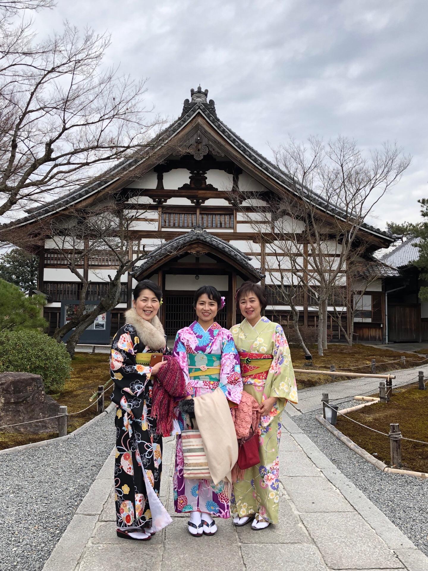 着物レンタルで高台寺を散策(^^♪2019年2月9日2