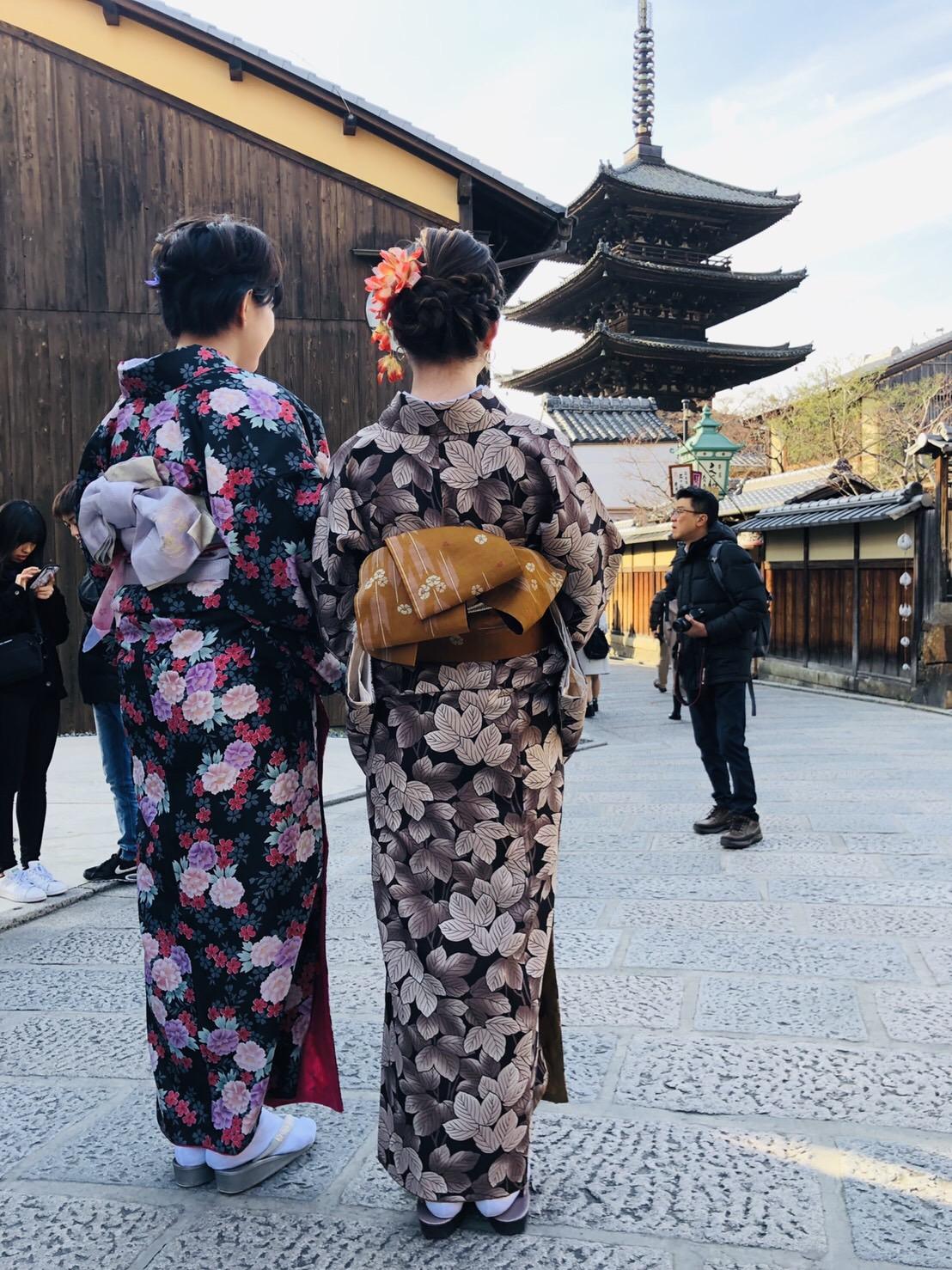 もうすぐ春の京都の夜を楽しんで頂きましたぁ♪2019年2月23日5