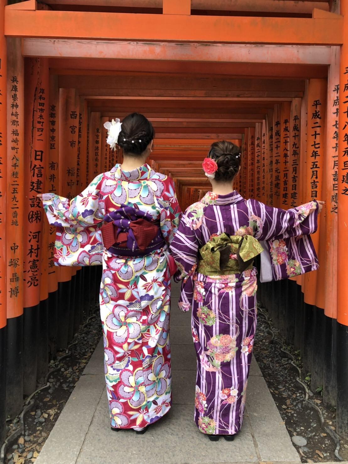 皆で京都へ卒業旅行(^^♪2019年2月21日4