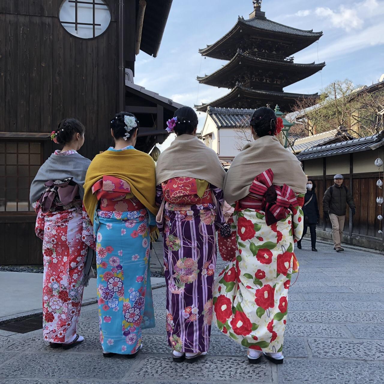 もうすぐ春の京都の夜を楽しんで頂きましたぁ♪2019年2月23日14
