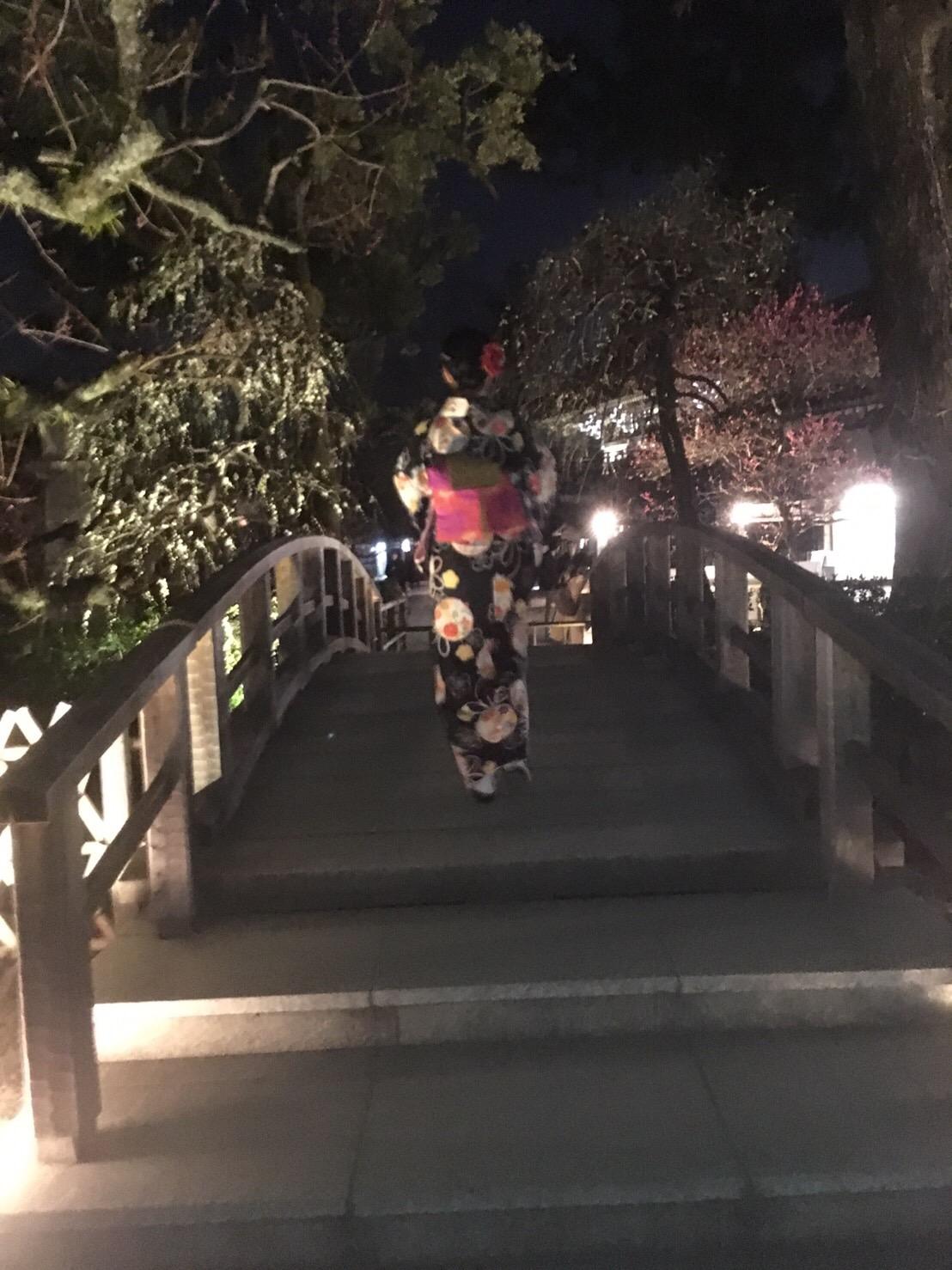 北野天満宮「夜の観梅 梅園ライトアップ」2019年2月22日5
