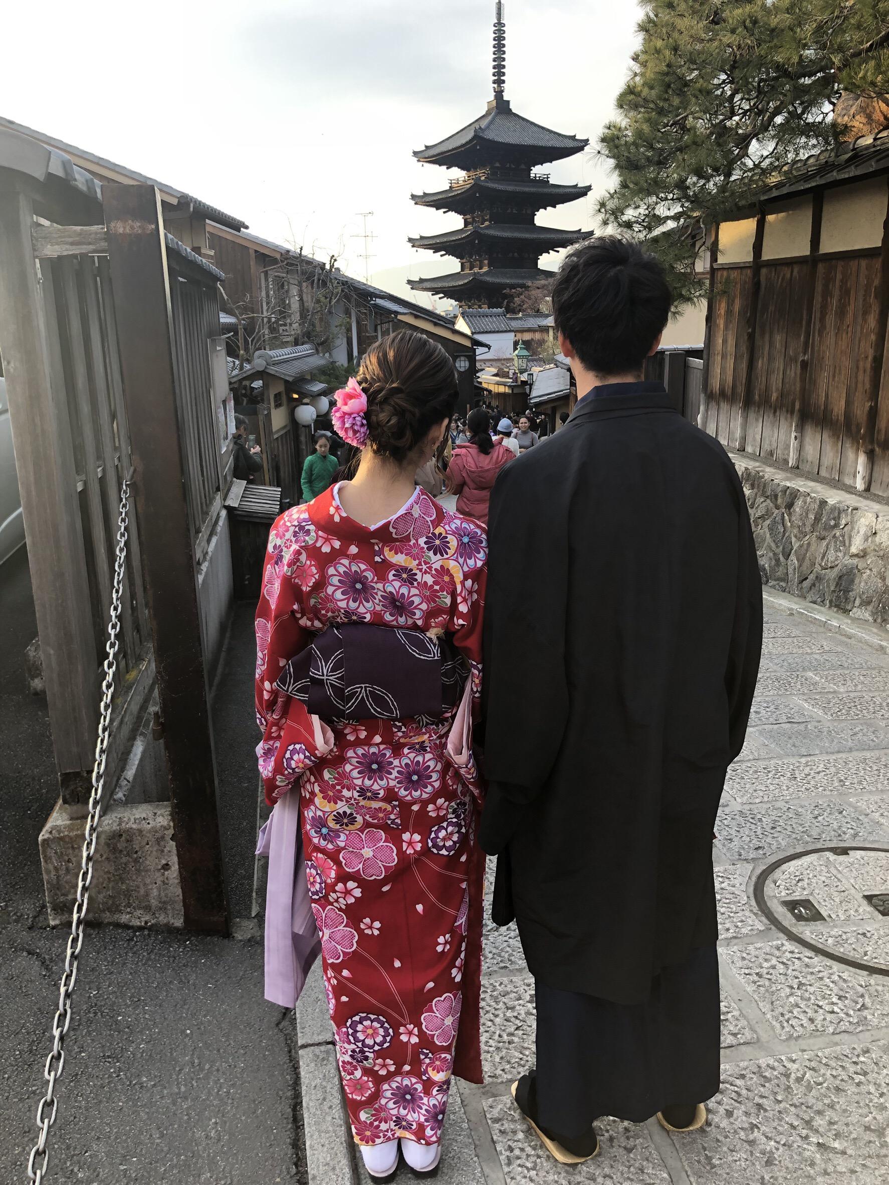 卒業旅行で思い出に嵐山へ♪2019年2月18日3