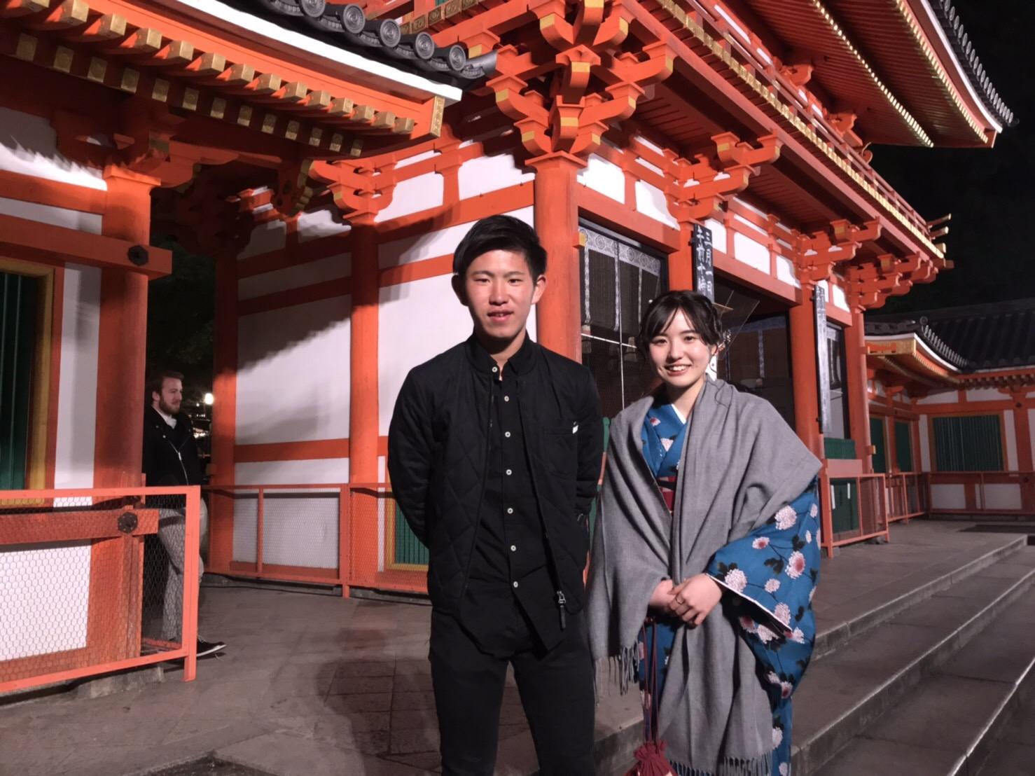 もうすぐ春の京都の夜を楽しんで頂きましたぁ♪2019年2月23日12