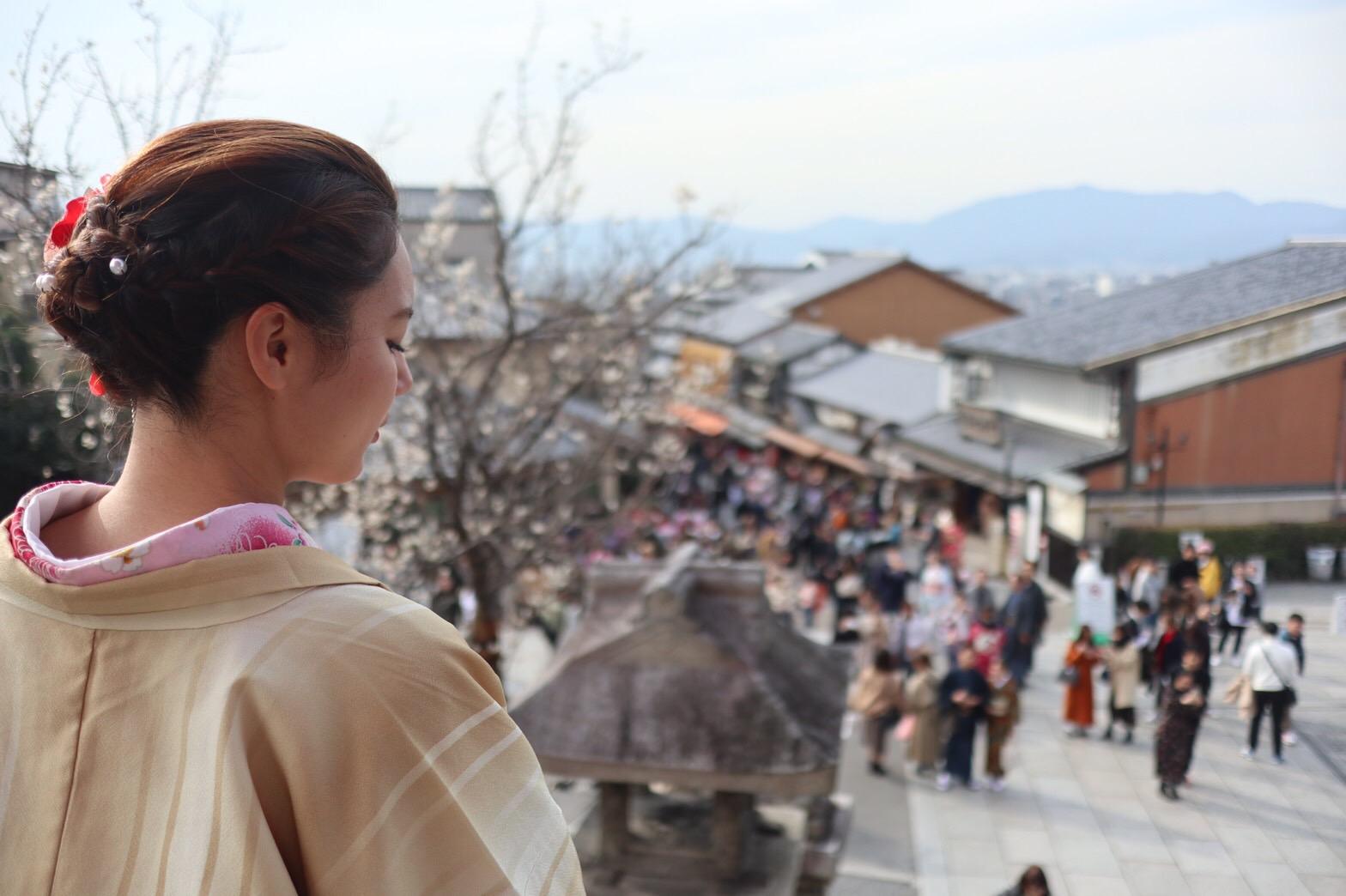 卒業旅行❣着物レンタルで嵐山へ♪2019年2月25日7