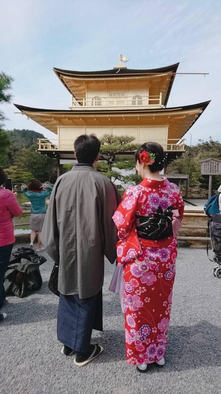カップルで金閣寺へ♡2019年2月24日1