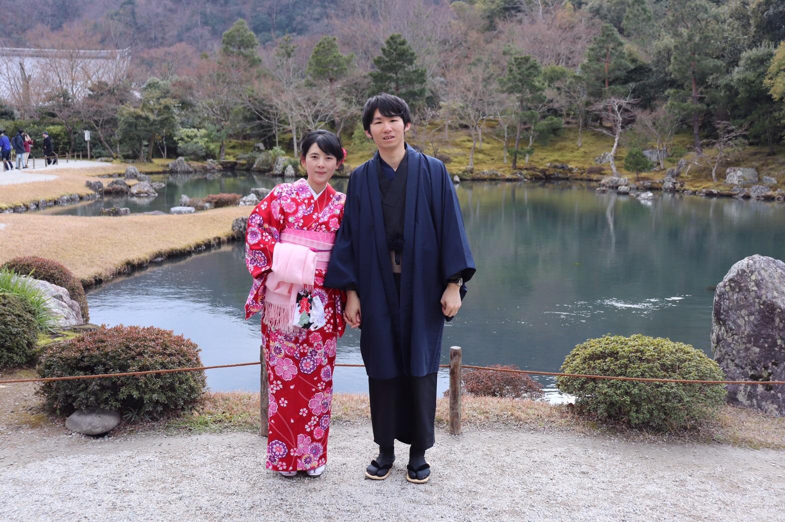 夫婦で嵐山 天龍寺へ2019年2月10日6