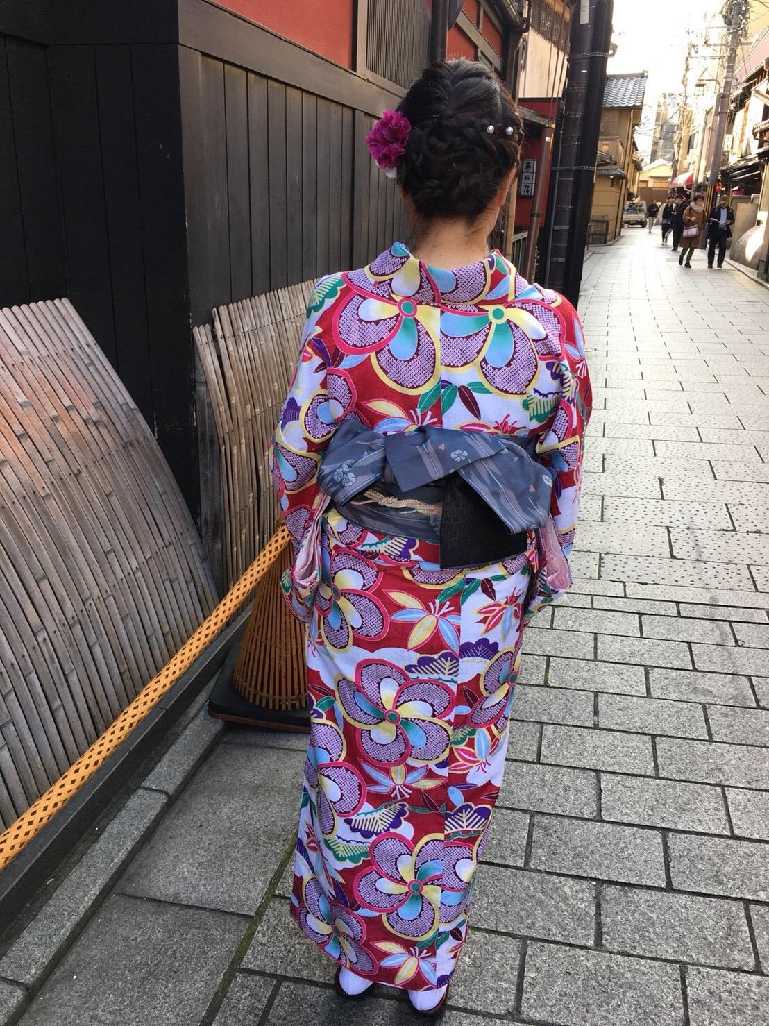 もうすぐ春の京都の夜を楽しんで頂きましたぁ♪2019年2月23日10
