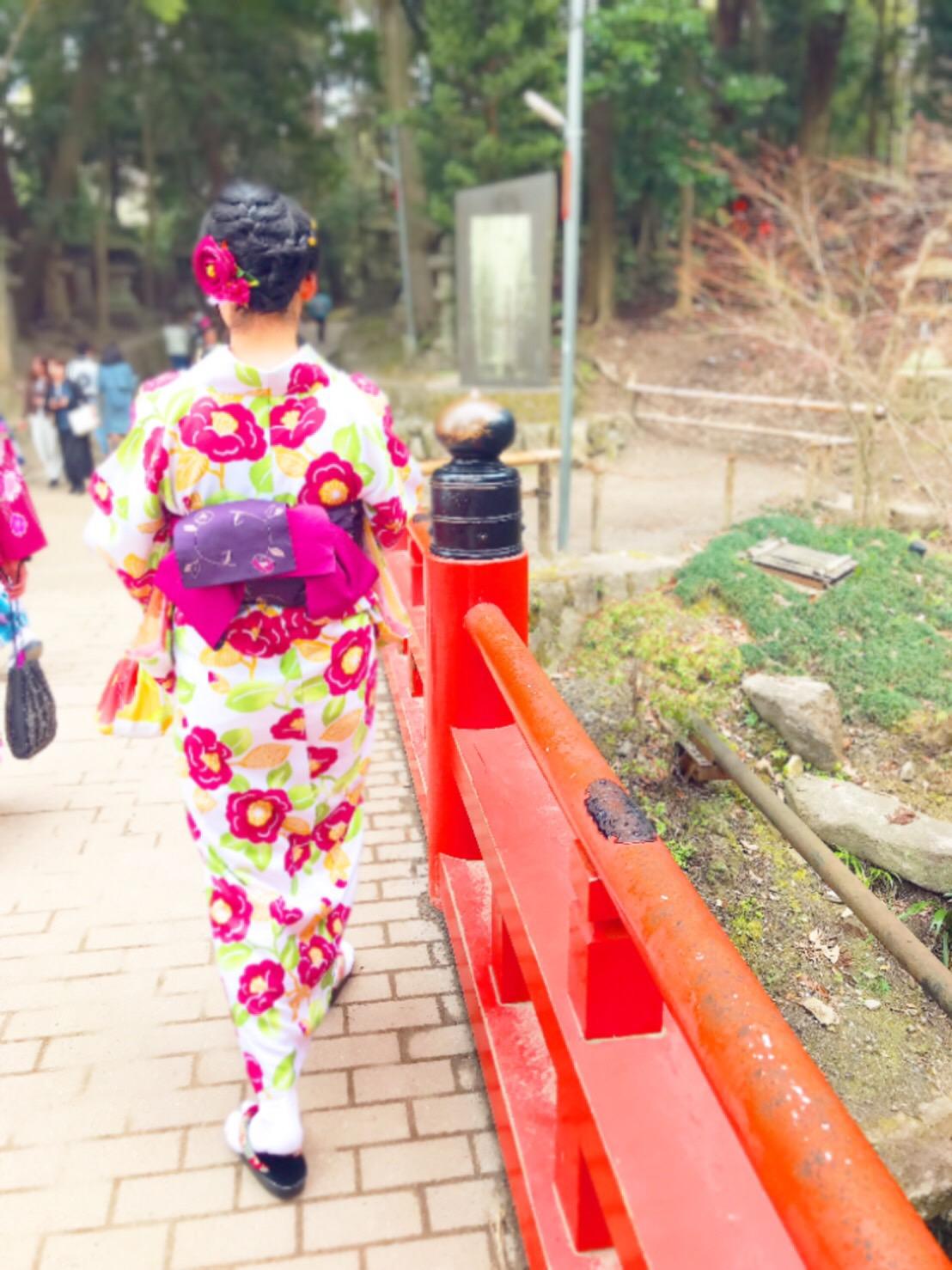 卒業の思い出に着物で伏見稲荷大社へ♪2019年3月19日3