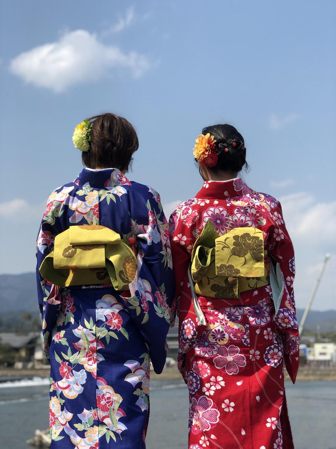 彼のお誕生日に着物で嵐山へ♡2019年3月15日11