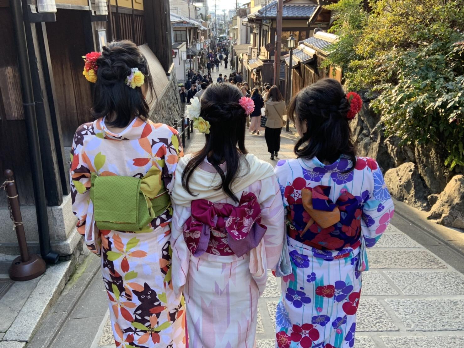 福岡から卒業旅行で東山花灯路へ♪2019年3月16日1