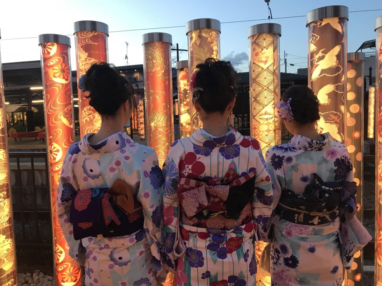 卒業旅行に着物で伏見稲荷大社へ♪2019年3月13日12