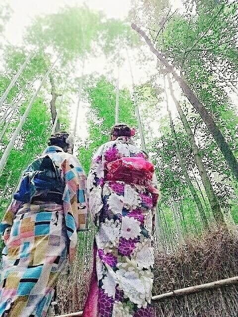 彼のお誕生日に着物で嵐山へ♡2019年3月15日15