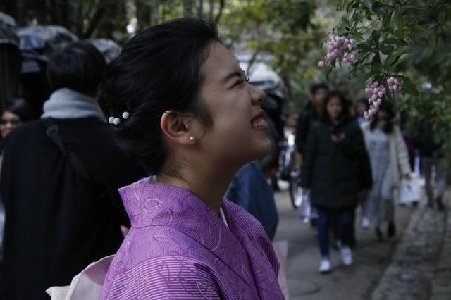 卒業旅行に着物で伏見稲荷大社へ♪2019年3月13日19