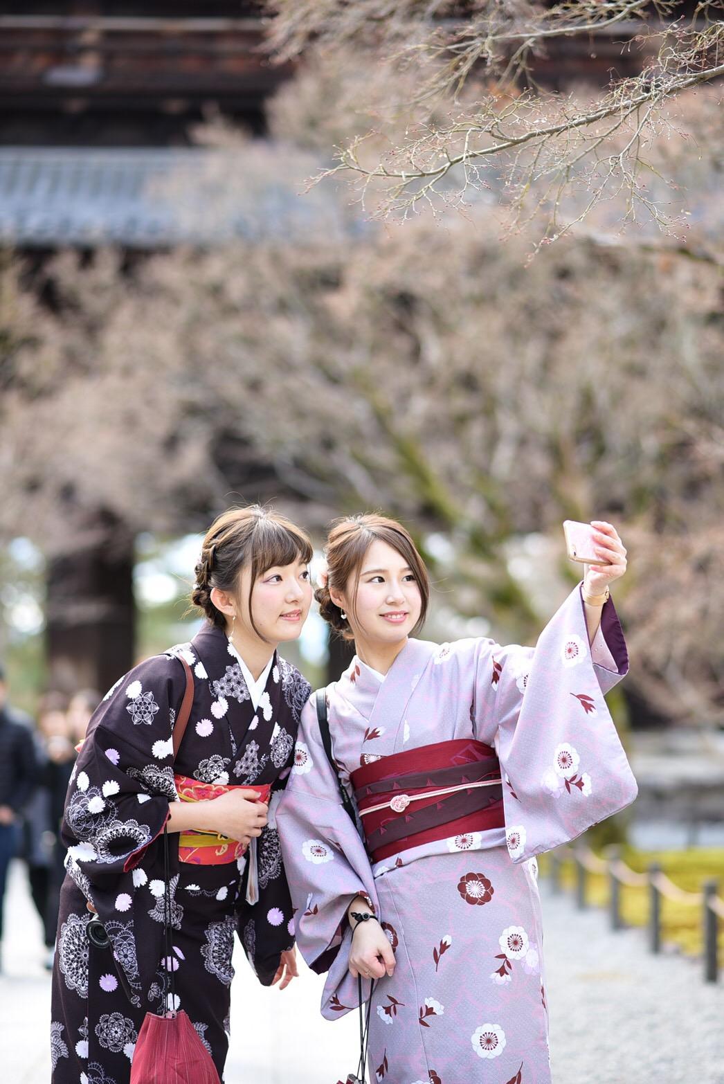 福岡から卒業旅行で東山花灯路へ♪2019年3月16日5