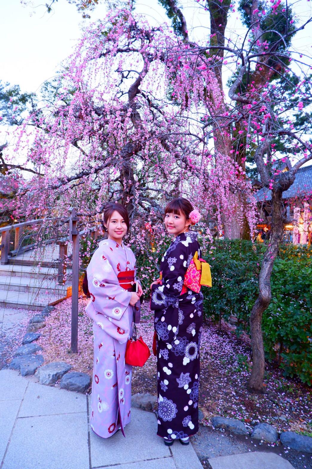 福岡から卒業旅行で東山花灯路へ♪2019年3月16日2